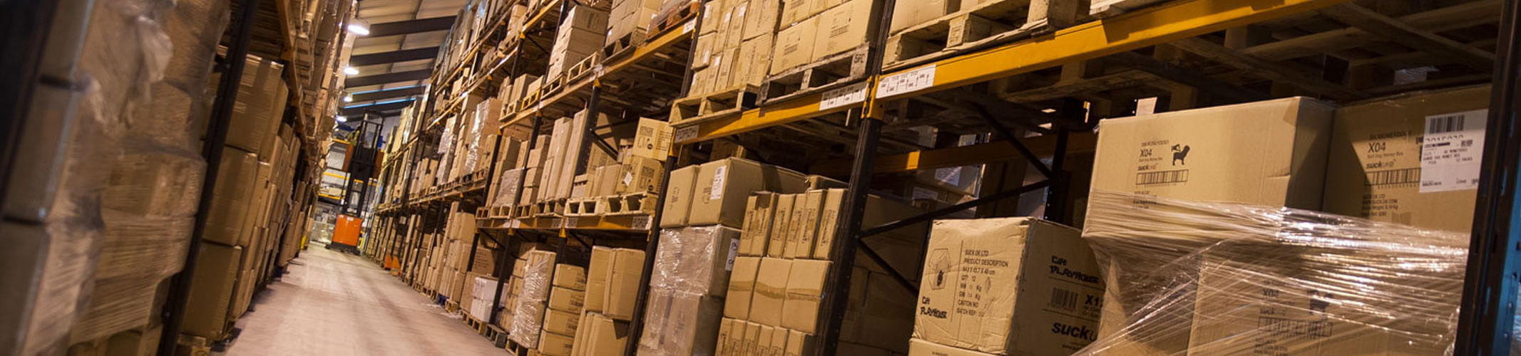 trade counter distribution warehouse aisle